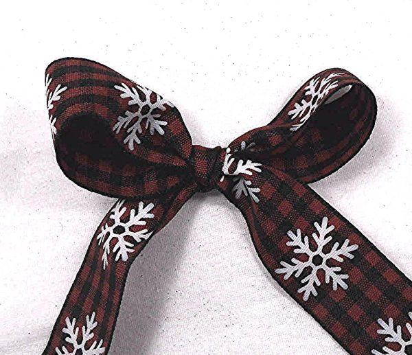 christmas buffalo plaid ribbon