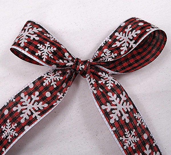 snowflake plaid ribbon