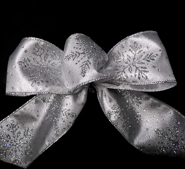 silver snowflake ribbon