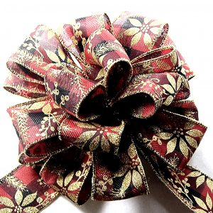 Glittery Pointsettia Ribbon