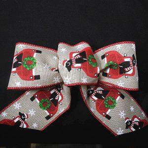 christmas dog ribbon