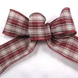 maroon plaid ribbon