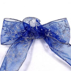 Blue Snowflake Ribbon