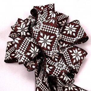 pointsettia pattern ribbon