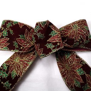 velvet pointsettia ribbon