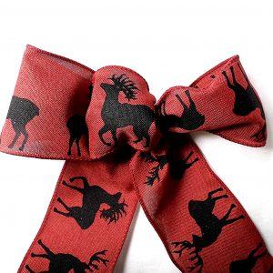 deer silhouette ribbon