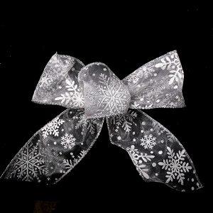 sheer snowflake ribbon