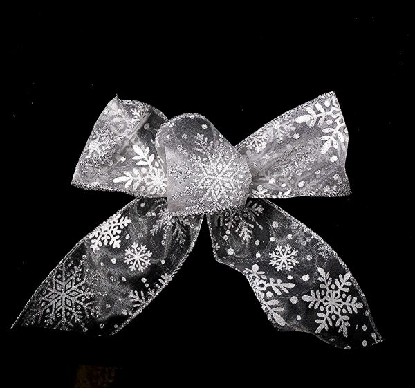 sheer snowflake ribbon