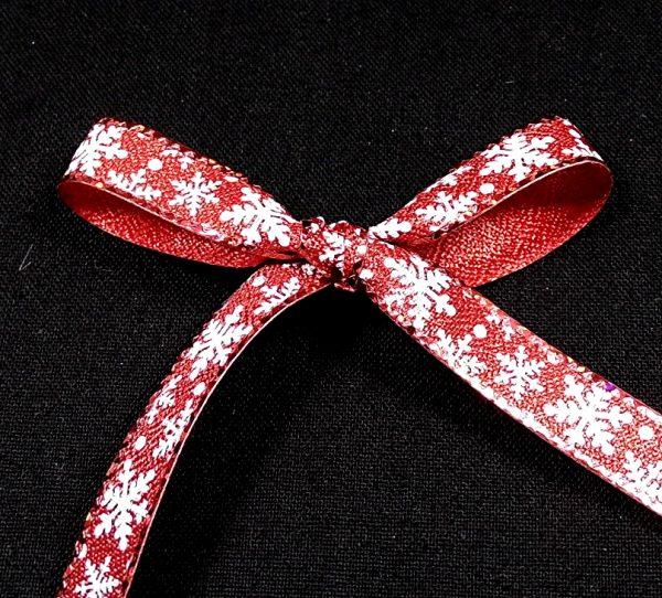 christmas snowflake ribbon