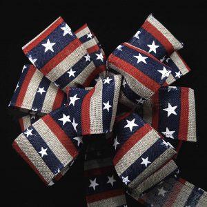 wired patriotic ribbon