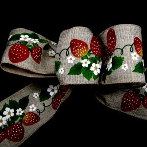 wired strawberry ribbon