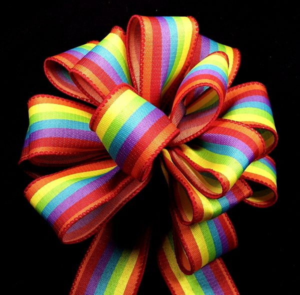 rainbow stripe ribbon