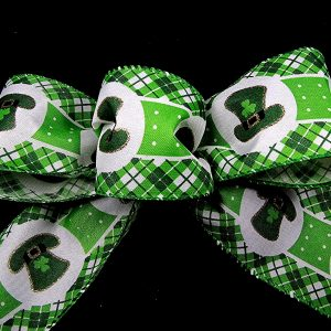 leprecahun hat ribbon