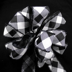 diagonal check ribbon