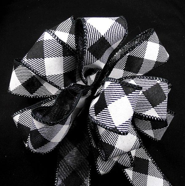 diagonal check ribbon
