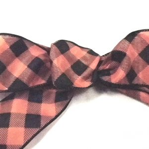 Halloween plaid ribbon