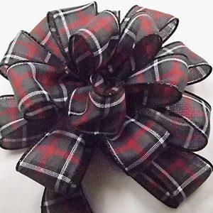 dark plaid ribbon