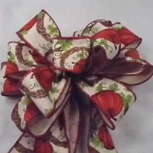 pumpkin wreath ribbon