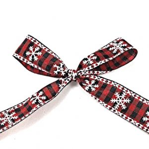 snowflake check ribbon