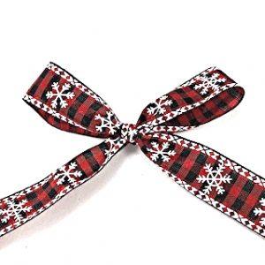 thin snowflake ribbon