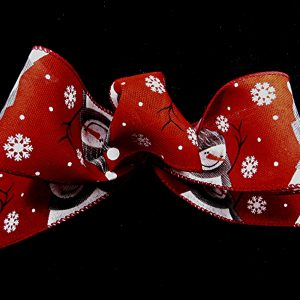 wired snowmen ribbon