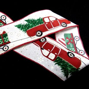 wired red truck ribbon