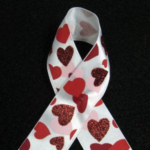 satin heart ribbon
