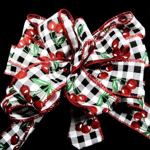 cherries ribbon