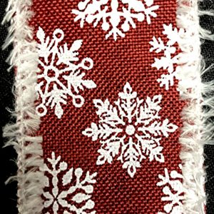 wired snowflakes ribbon