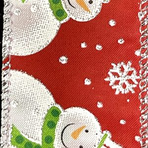 wired snowmen ribbon