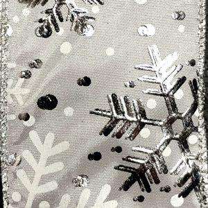 ssheer snowflake ribbon