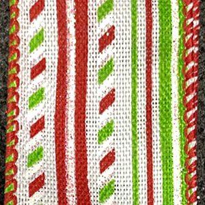 christmas stripes ribbon