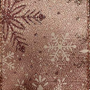 metallic snowflake ribbon