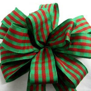 christmas check ribbon