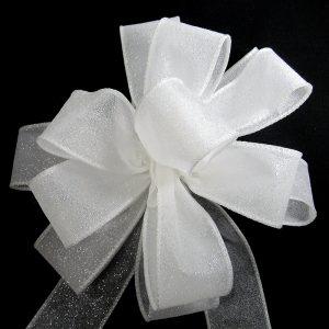 white glitter ribbon